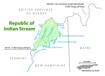 Republic of Indian Stream Map